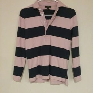 J Crew women's long sleeve polo,size xs